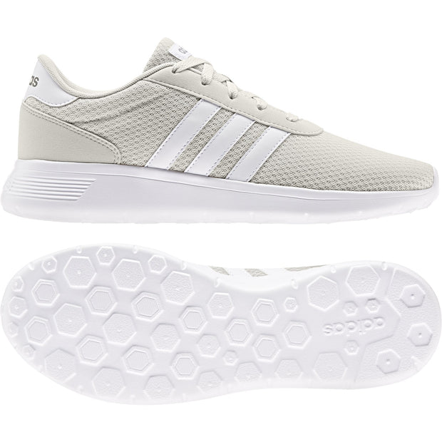 ADIDAS MEN'S LITE RACER RAW WHITE SHOES