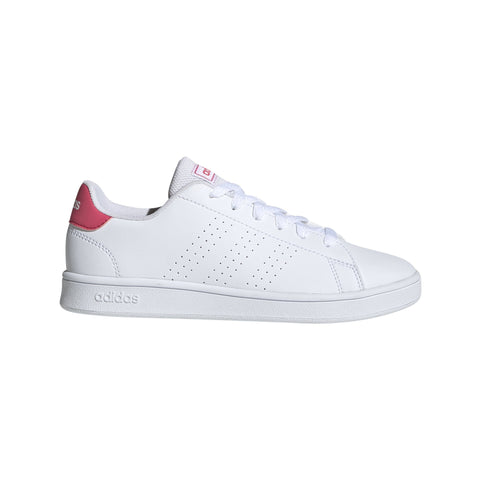 ADIDAS JUNIOR ADVANTAGE WHITE/PINK SHOES