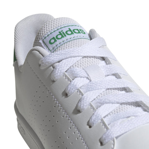 ADIDAS JUNIOR ADVANTAGE WHITE GREEN SHOES