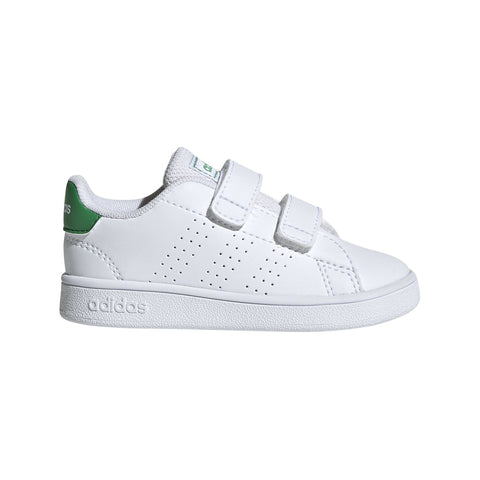 ADIDAS INFANT'S ADVANTAGE WHITE GREEN SHOES
