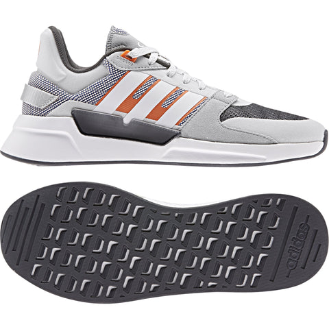 ADIDAS MEN'S RUN 90S GREY SHOES