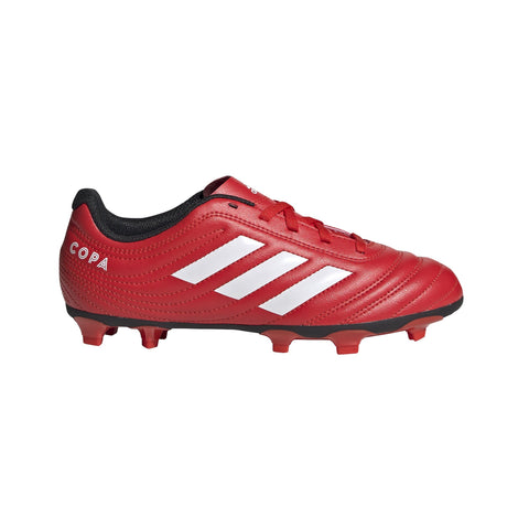 ADIDAS KID'S COPA 20.4 FIRM GROUND RED SOCCER BOOTS