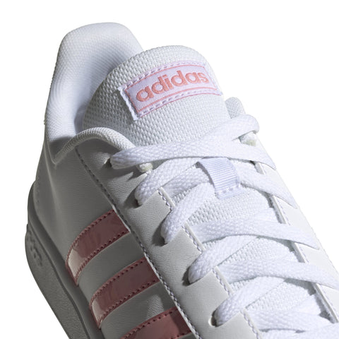 ADIDAS WOMEN'S GRAND COURT BASE WHITE PINK SHOES