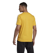 ADIDAS MEN'S ESSENTIALS 3-STRIPES YELLOW TEE