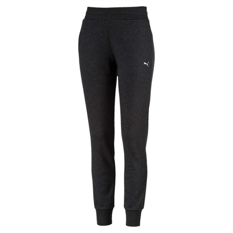 PUMA WOMEN'S ESSENTIAL KNITTED CHARCOAL TRACKPANTS