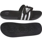ADIDAS MEN'S ADISSAGE BLACK SLIDES