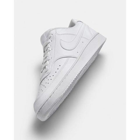 NIKE MEN'S COURT VISION LOW WHITE SHOE