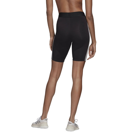 ADIDAS WOMEN'S ATHLETICS MUST HAVES 3-STRIPES BLACK SHORT TIGHTS