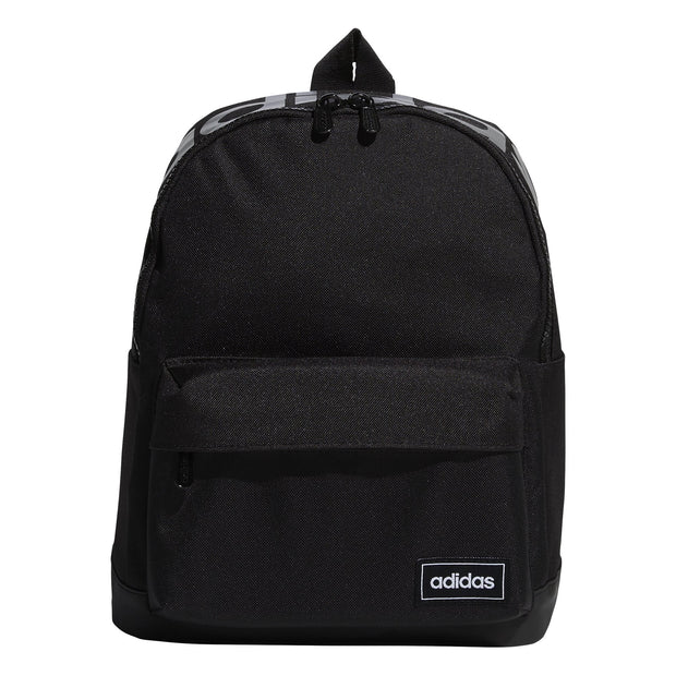 ADIDAS CLASSIC METALLIC BLACK BACKPACK (SMALL)