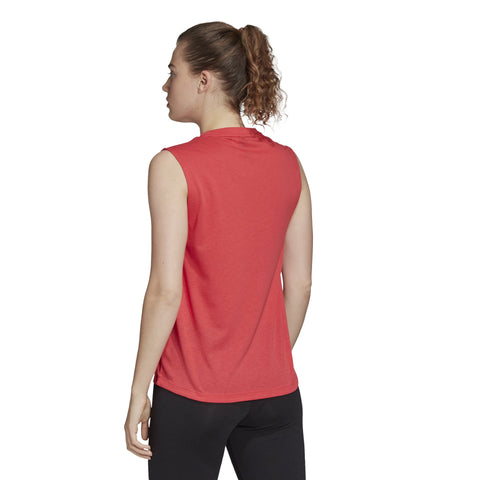 ADIDAS WOMEN'S MUST HAVES BADGE OF SPORT RED TANK TOP