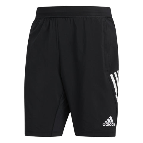 ADIDAS MEN'S TRAINING 4KRFT 3-STRIPES 9-INCH BLACK SHORTS