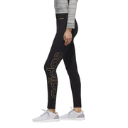 ADIDAS WOMEN'S TRAINING ESSENTIALS BRANDED BLACK TIGHTS