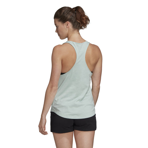ADIDAS WOMEN'S ESSENTIALS LINEAR MINT GREEN TANK TOP