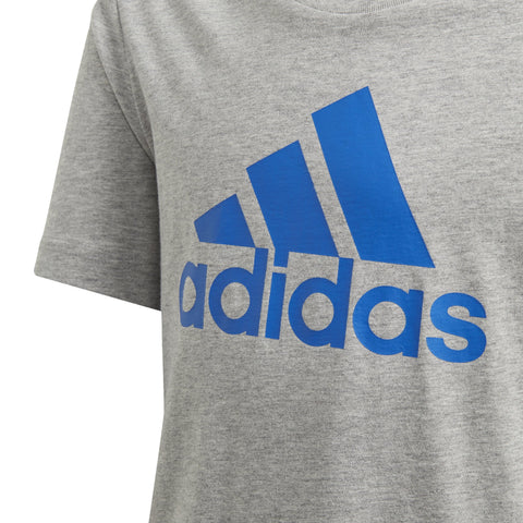 ADIDAS JUNIOR MUST HAVES BADGE OF SPORT GREY HEATHER TEE