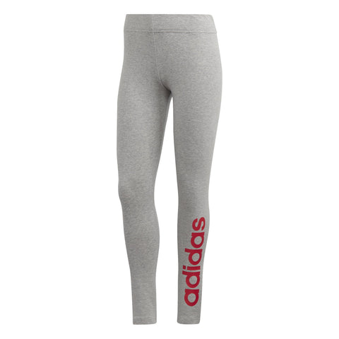ADIDAS WOMEN'S ESSENTIALS LINEAR GREY PINK TIGHTS