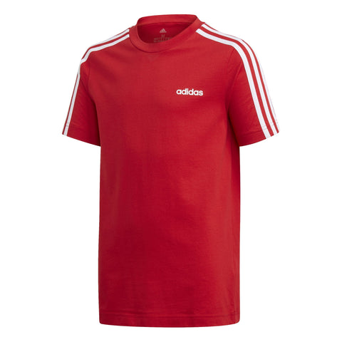 ADIDAS JUNIOR ESSENTIALS 3-STRIPES RED TEE