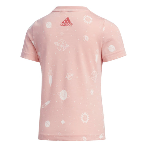 ADIDAS TODDLER'S STYLE SUMMER PINK TEE