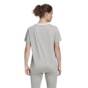 ADIDAS WOMEN'S 3-STRIPES ESSENTIALS BOYFRIEND GREY TEE