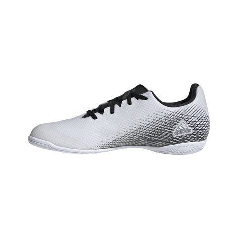 ADIDAS MEN'S X GHOSTED.4 WHITE INDOOR FOOTBALL BOOTS