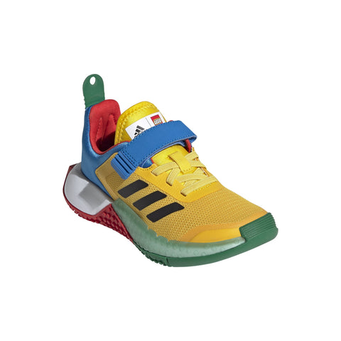 ADIDAS TODDLER'S LEGO SPORTS YELLOW/BLUE/GREEN SHOES