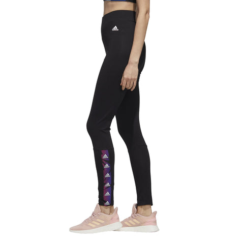 ADIDAS WOMEN'S ESSENTIALS TAPE HIGH-RISE BLACK TIGHTS