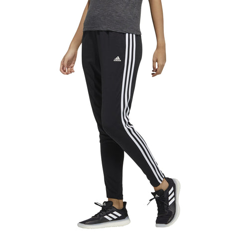 ADIDAS WOMEN'S MUST HAVES 3-STRIPES BLACK SWEAT PANTS