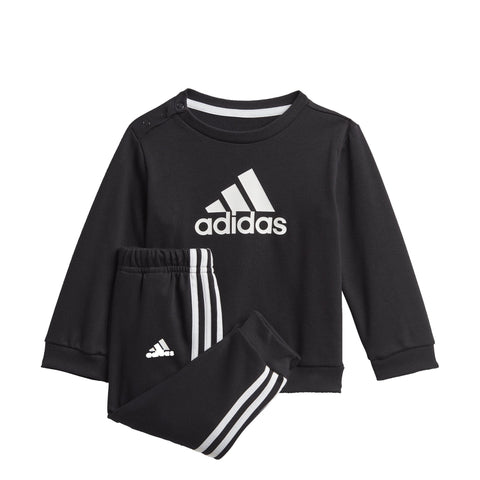 ADIDAS INFANTS BADGE OF SPORT FRENCH TERRY BLACK JOGGER SET