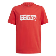 ADIDAS JUNIOR GRAPHIC RED TEE