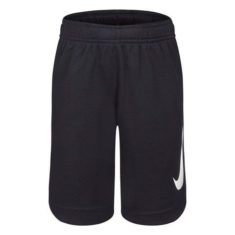 NIKE JUNIOR DRY FIT HBR BLACK SHORTS
