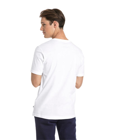 PUMA MEN'S ESSENTIAL SMALL LOGO WHITE TEE