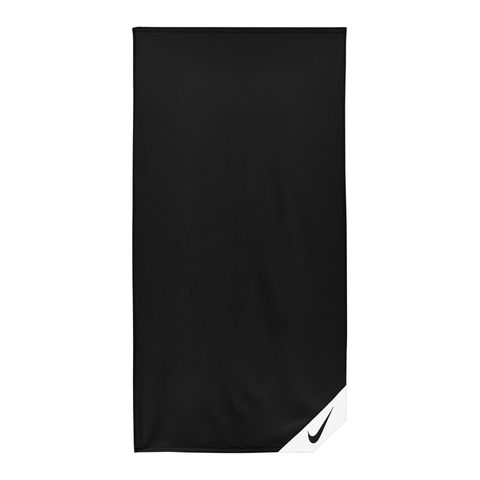 NIKE COOLING BLACK GYM TOWEL (SMALL)