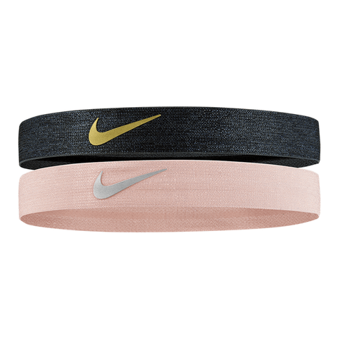 NIKE SHINE BLACK PINK HEADBAND (2 PACK)