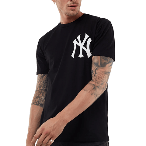 MITCHELL AND NESS MEN'S JEANER NY BLACK TEE