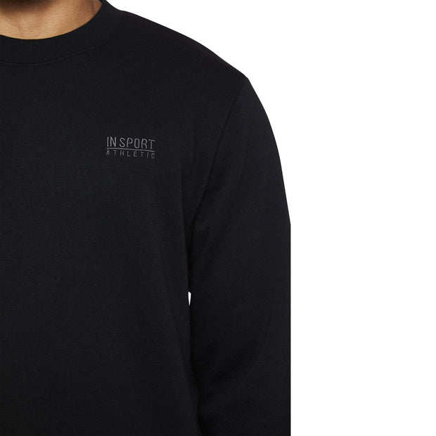 INSPORT MEN'S ALASKA BLACK CREW SWEATSHIRT