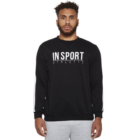 INSPORT ATHLETIC MEN'S DENVER POLAR FLEECE 3/4 ZIP GREY JUMPER