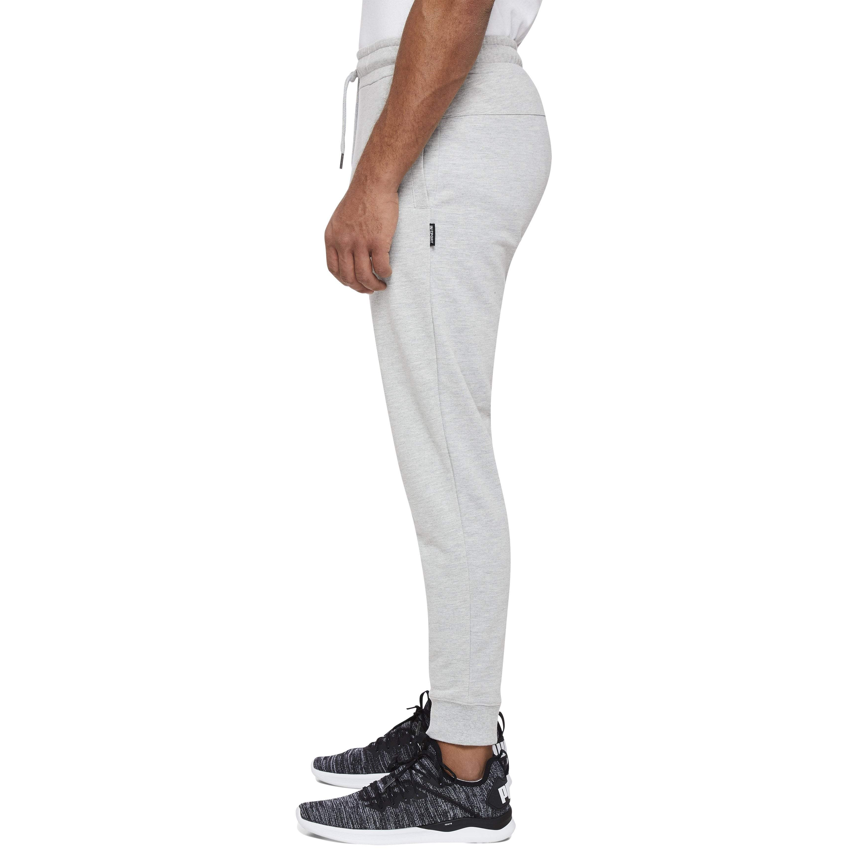 INSPORT ATHLETIC APPAREL MEN'S BOSTON SLIM FIT OXFORD HEATHER TRACKPANTS