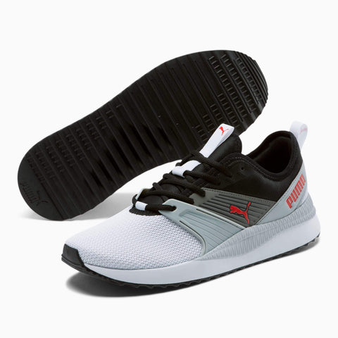 PUMA MEN'S PACER NEXT FFWD BLACK GREY SNEAKERS