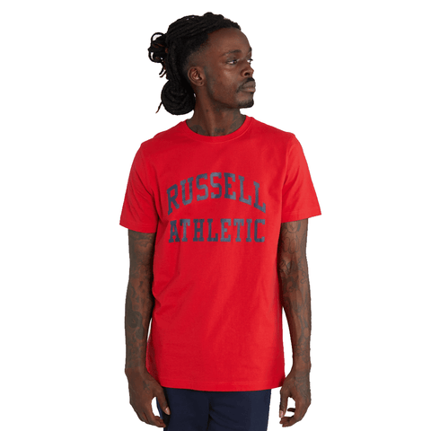 RUSSELL ATHLETIC MEN'S ARCH LOGO CREW RED TEE