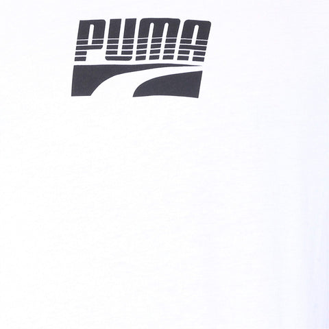 PUMA MEN'S REBEL BLOCK WHITE TEE