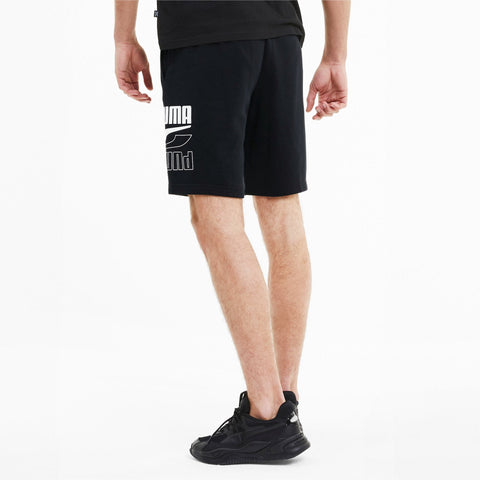 PUMA MEN'S REBEL KNITTED BLACK SHORTS