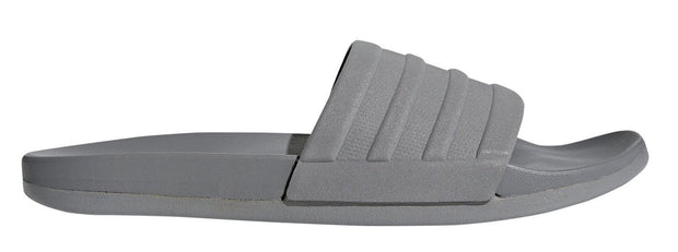 ADIDAS MEN'S TRAINING ADILETTE CLOUDFOAM PLUS GREY MONO SLIDES - INSPORT
