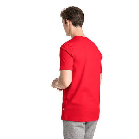 PUMA MEN'S ESSENTIALS RED TEE
