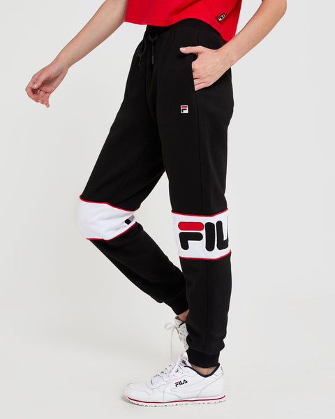 FILA UNISEX (MEN'S WOMEN'S) OLIVER BLACK TRACKPANTS