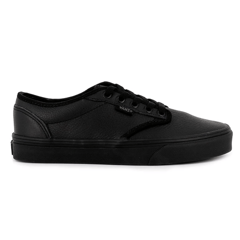 VANS MEN'S ATWOOD TRIPLE BLACK LEATHER SHOES