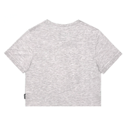 INSPORT WOMEN'S SLIM CROPPED GREY TEE