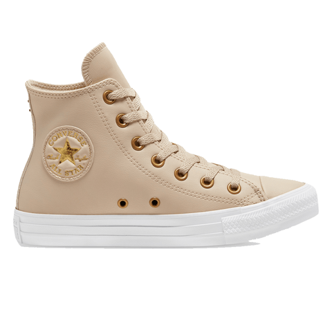 CONVERSE WOMEN'S CHUCK TAYLOR ALL STAR GO GOLD SL HIGH TOP CREAM/GOLD SHOES