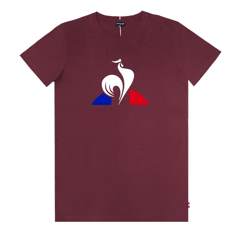LE COQ SPORTIF MEN'S ESSENTIAL LOGO BERRY TEE