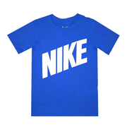 NIKE JUNIOR BLOCK SS BLUE TEE