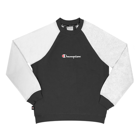 CHAMPION WOMEN'S FOR THE TEAM FRENCH TERRY BLACK CREW SWEATSHIRT