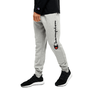 CHAMPION MEN'S SCRIPT OXFORD GREY HEATHER TRACKPANT